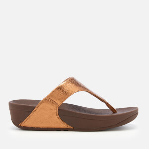 FitFlop Women's Lulu Molten Metal Toe Post Sandals - Bronze
