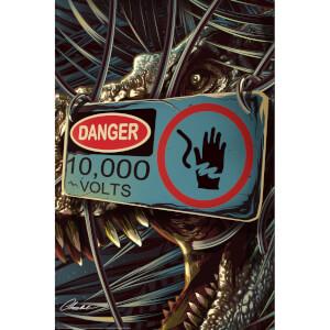 Sérigraphie Jurassic Park 25ème Anniversaire - Impression Fine Art Giclée par Chris Christodoulou (Édition Limitée)