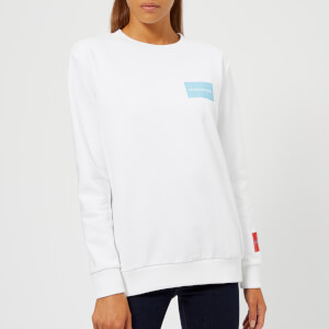 Calvin Klein Jeans Women's Multi Logo Sweatshirt - Bright White
