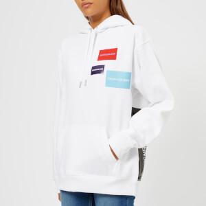 Calvin Klein Jeans Women's Multi Logo Hoodie - Bright White