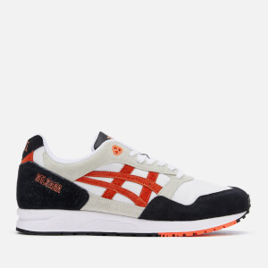 Asics Lifestyle Men's Gelsaga Leather Trainers - White/Flash Coral