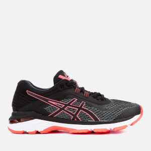 Asics Running Women's Gt-2000 6 Trainers - Black/Flash Coral