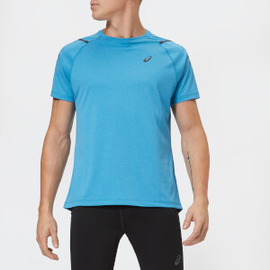 Asics Men's Icon Short Sleeve Top - Race Blue/Peacoat