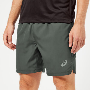 Asics Men's Silver 7 Inch Shorts - Dark Grey