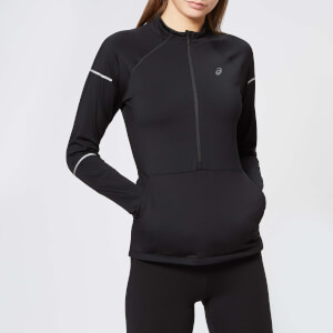 Asics Women's Lite-Show Winter Long Sleeve 1/2 Zip Top - Performance Black