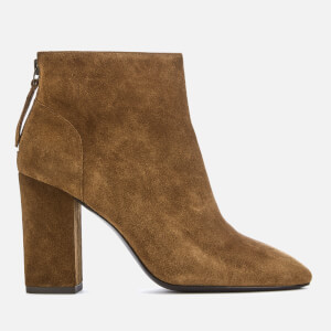 Ash Women's Joy Suede Heeled Ankle Boots - Russet