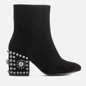 Ash Women's Era Suede Heeled Boots - Black