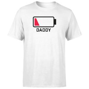 Daddy Batteries Low Men's T-Shirt - White