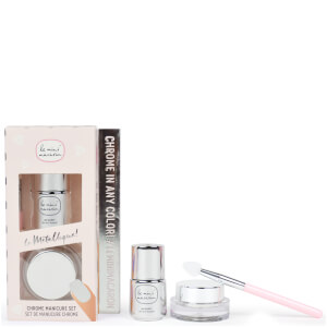 Le Mini Macaron Le Metallique Chrome Manicure Set