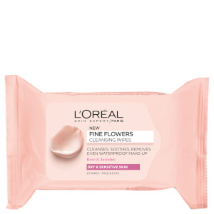 L'Oreal Paris Fine Flowers Sensitive Skin Cleansing Face Wipes x 25
