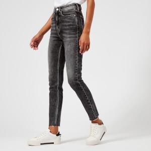 Calvin Klein Jeans Women's High Rise Skinny Raw Hem Jeans - Highland Black