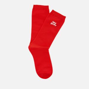 Ganni Women's Classon Embroidery Socks - Big Apple Red