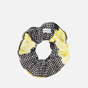 Ganni Women's Calla Silk Scrunchie - Black