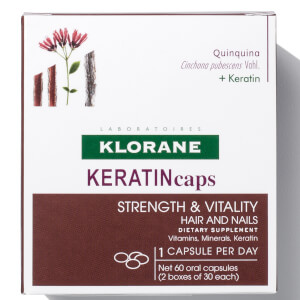 Klorane KERATINcaps Hair and Nails Dietary Supplements - 60 Capsules (Worth $48)