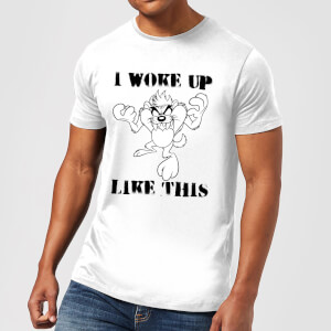 T-Shirt Homme Woke Up Like This Looney Tunes - Blanc