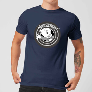 Looney Tunes That's All Folks Porky Pig Men's T-Shirt - Navy