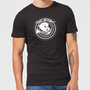 Looney Tunes That's All Folks Porky Pig Men's T-Shirt - Black