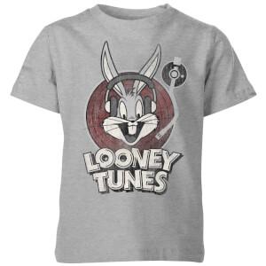 Camiseta Looney Tunes Bugs Bunny Logo - Niño - Gris