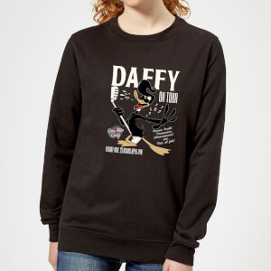 Looney Tunes Daffy Concert Women's Sweatshirt - Black