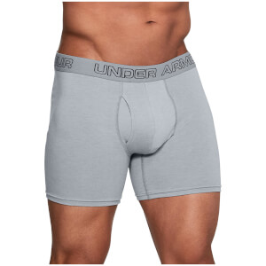 Under Armour Charged 3 Pack Cotton 6 Inch Boxerjock Briefs - Grey