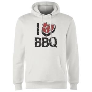 I Love BBQ Hoodie - White