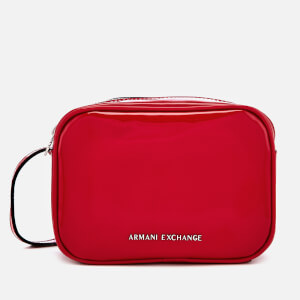 Armani Exchange Women's Patent Logo Cross Body Bag - Red