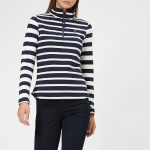 Joules Women's Fairdale Half Zip Sweatshirt - Navy Stripe