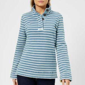 Joules Women's Saunton Classic Funnel Neck Sweatshirt - Saltwash Stripe
