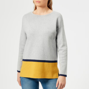 Joules Women's Uma Milano Jumper - Grey Ochre Black