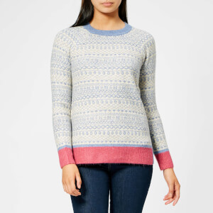 Joules Women's Fairisle Hem Jumper - Dark Grey