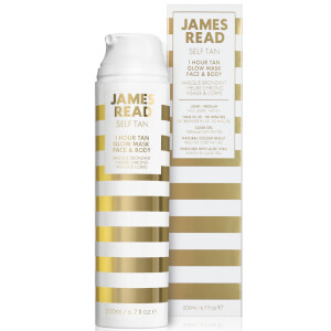 James Read 1 Hour Glow maschera viso e corpo 200 ml