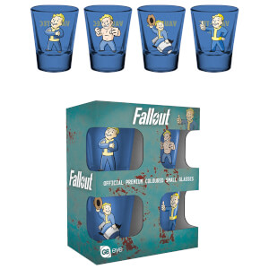 Fallout Vault Boy Coloured Shot Glasses