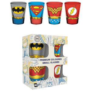 DC Comics Costumes Coloured Shot Glasses