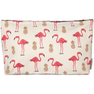 Fenella Smith Flamingo and Pineapple Make-Up Bag - Large