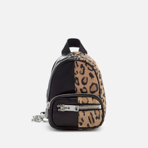 Alexander Wang Women's Attica Soft Mini Suede/Leather Backpack - Leopard