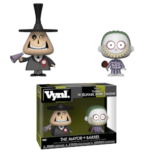 Nightmare Before Christmas Mayor and Barrel Vynl.