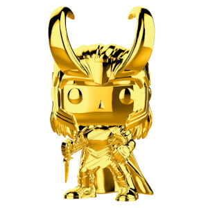 Figurine Pop Loki Chromée Marvel Studios 10 ans