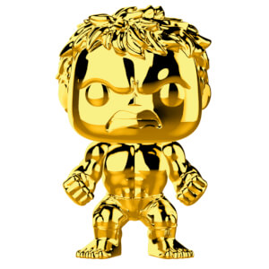 Marvel MS 10 Hulk Gold Chrome Pop! Vinyl Figur