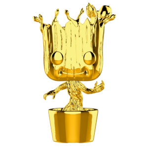 Marvel MS 10 Groot Gold Chrome Pop! Vinyl Figur