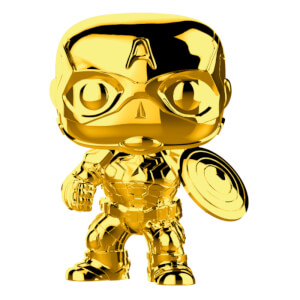 Marvel MS 10 Captain America Gold Chrome Pop! Vinyl Figur