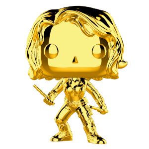 Marvel MS 10 Black Widow Gold Chrome Funko Pop! Vinyl