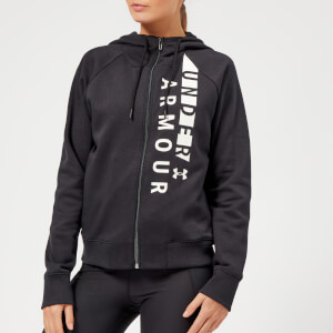 Under Armour Women's Cotton Fleece Zull Zip Hoodie - Black