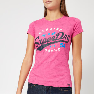 Superdry Women's SD 54 Entry T-Shirt - Fluro Pink Snowy