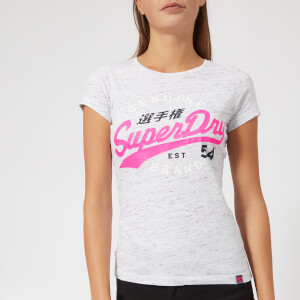 Superdry Women's SD 54 Entry T-Shirt - Injected Heel Flip Grey