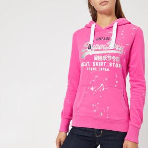 Superdry Women's Vintage Logo Splat Lite Hoody - Skater Pink