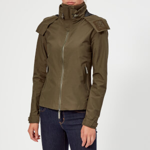 Superdry Women's Hooded Cliff Hiker Coat - Alpine Khaki/Black