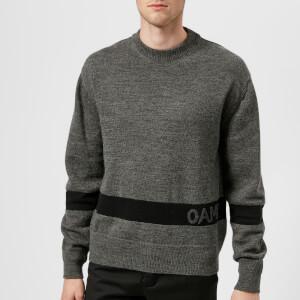 OAMC Men's G.I. Sweater - Grey Heather/Black