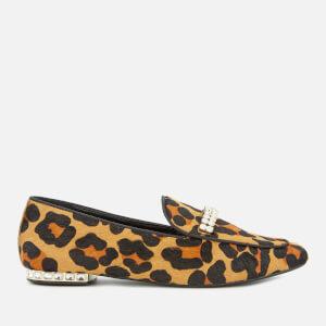 Dune Women's Gara Pony Jewelled Heel Loafers - Leopard
