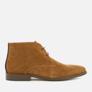 Dune Men's Mansfield Suede Desert Boots - Tan