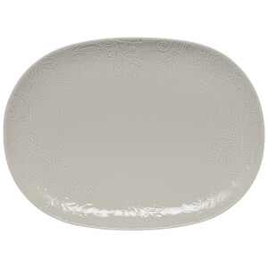 Denby Monsoon Gather Large Platter - Grey